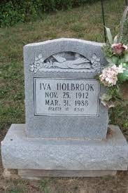 """Iva """"Ivie"""" Stevens Holbrook (1912-1988) - Find A Grave Memorial"""