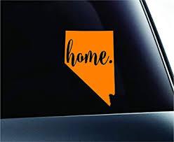 Amazon Com 3 Home Nevada State Carson City Symbol Sticker Decal Car Truck Window Computer Laptop Orange Automotive