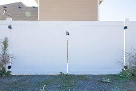 Vinyl Entry Gate Northwest Fence Company
