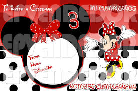 Invitacion Minnie Mouse Puntos Invitaciones Epv Tarjetas Genuardis