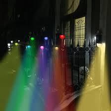 Solar Fence Post Lights Othway Outdoor Waterproof Rgb Colourful Decorative Wall Light Easy Installation Dark Post Lights
