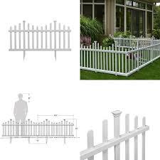 2 5 Ft X 4 7 Ft Madison No Dig Vinyl Garden Picket Fence Panel Kit 2 Pack 7445008944971 Ebay