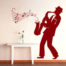Music Wall Decals Saxophone Jazz Orchestra Vinyl Decal Sticker Home Decor For Window Furniture Pattern Single Piece Package Xupc Stickers Home Decor Home Decordecal Sticker Aliexpress