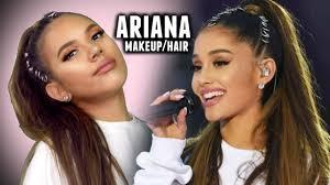 look like ariana grande makeup and hair