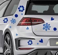 Flower Print Car Vinyl Sticker Tenstickers
