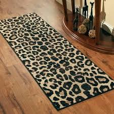 cheetah print runner rug