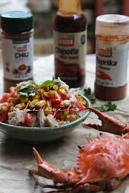 Haitian zesty chipotle crab salad ...