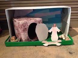 Jesus has risen diorama in shoebox.   Easter sunday school, Shoe ...