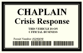 Chaplain Badge For Emergency Response