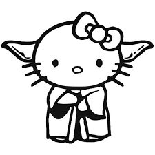 Hello Kitty Master Yoda Vinyl Decal Sticker