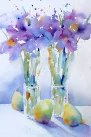 Loose floral watercolor painting. | Floral watercolor, Flower art ...