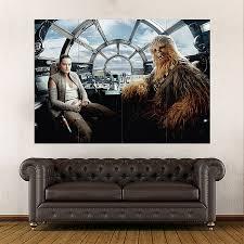 Rey Chewbacca Star Wars The Last Jedi Block Giant Wall Art Poster