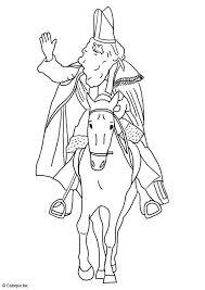Kleurplaat Sinterklaas Op Zijn Paard Gratis Kleurplaten Om Te