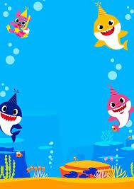 Baby Shark Invitaciones Para Imprimir Gratis Invitaciones De Cumpleanos Virtuales Invitaciones De Bebe Fiesta De Cumpleanos Para Ninos