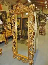 rococo style cheval dressing mirror