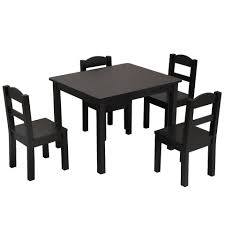 5 In 1 Kids Mdf Pine Dining Table Set Wood Table With 4 Chairs Room Furniture Kitchen Espresso Home Kits Usa Warehouse Shipping Aliexpress