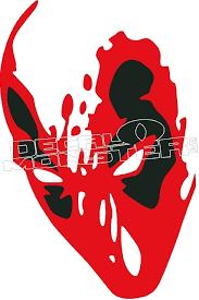 Deadpool Silhouette 1 Decal Sticker Decalmonster Com
