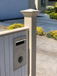 Brunswick Picket Letterbox Federation Design Incl Lock And Key Chatterton Lacework
