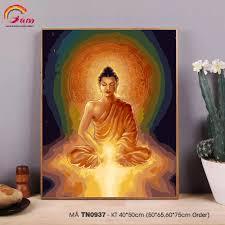 Tranh tô màu số hóa Gam Tranh Đức Phật ngồi thiền Phật giáo TN0937 ...