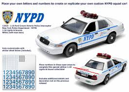 1 18 Scale Nypd Ford Crown Victoria Interceptor With Lights And Sound Acapsule Toys And Gifts