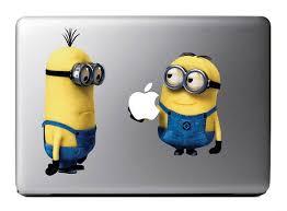Minions Me Macbook Decal Apple Mac Book Ipad On Etsy 9 99 Minions Autocolantes Tema