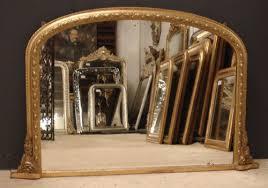 antique english overmantle mirror
