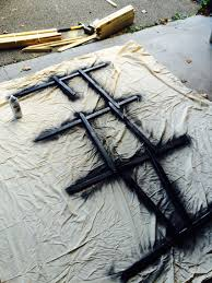 Made My Own Graveyard Fences With Stakes From Lowes And Spray Paint