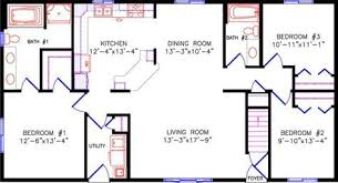 ranch rectangle house plans floor