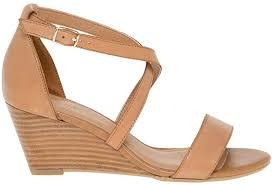 leather criss cross wedge sandal