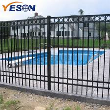 China 2019 Wholesale Price Wrought Iron Gate For Sale Flat Top Fence Yeson Factory And Manufacturers Yeson