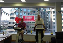 dtz staff get on their bikes for