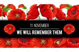remembrance day vector poppy banner custom designed