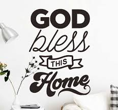 God Bless This Home Text Wall Sticker Tenstickers