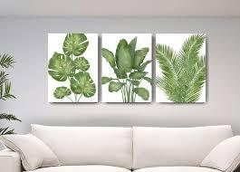 Botanical Wall Decor Banana Tree Palm Leaf Canvas Wall Art Muralmax Interiors