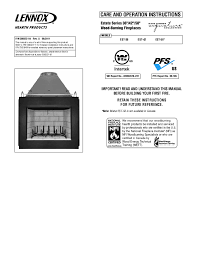 lennox hearth indoor gas fireplace