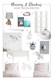 Unicorns Rainbows Cute Kids Bedroom Decor Ideas The Mom Edit