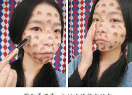 chinese uses makeup to look like a man