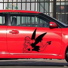 Earlfamily 2x Tinker Bell Cartoon Film Classic Beautiful Image Peter Pan Fairy Fantasy Car Stickers Rv Door Vinyl Decal 9 Colors Aliexpress