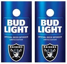 Bud Light Oakland Raiders Cornhole Skin Wrap Decal With Etsy