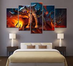 Waliicorners 5 Piece Hd Picture Dota 2 Game Poster Wall Sticker Paintings Artwork Canvas Art For Home Decor Wall Art Waliicorner S Store