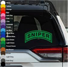 Sniper Ribbon Car Decal Crazy4decals
