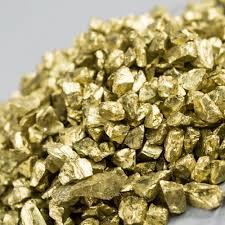 crushed glass vase filler in gold