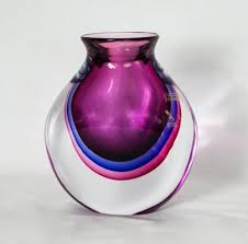 vintage sommerso murano glass vase by