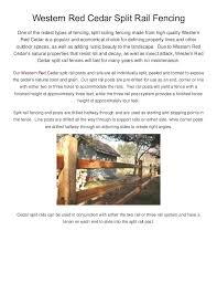 How To Choose And Install Cedar Split Rail Fencing