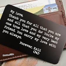 men women wallet insert card keepsake