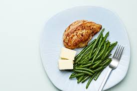 keto en and green beans plate