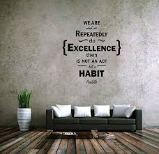 Huis We Are What We Repeatedly Do Office Removable Wall Decal Quote Stickers Decor Muurversieringen Stickers Actumma Com