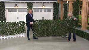 Wicker Park Single Expandable Faux Ivy Privacy Fence On Qvc Youtube
