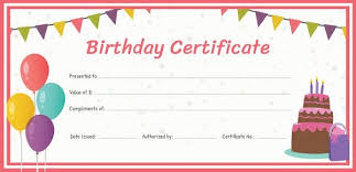 20 birthday gift certificate templates