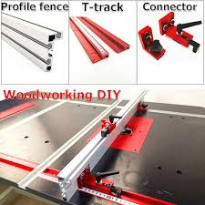 Woodworking Tool T Track Track Stopper Clamping Block Connector Profile Fence Feather Board For Router Table Table Saw Wish